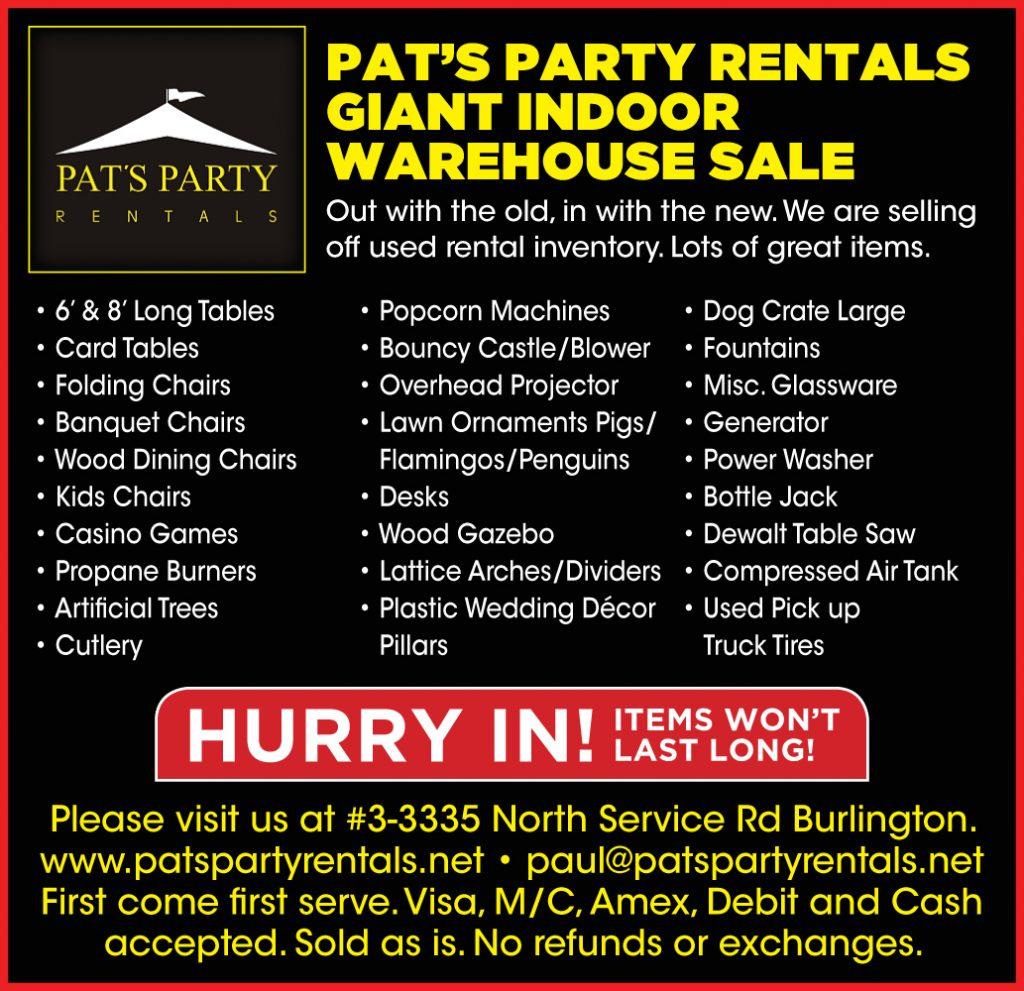 giant indoor warehouse sale